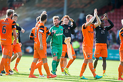 Dundee United's keeper Cammy Bell with the players at the end. Dunfermline 1 v 3 Dundee United, Scottish Championship game played 10/9/2016 at East End Park.
