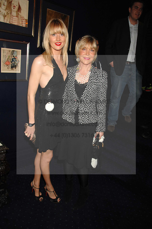 Left to right, LADY EMILY COMPTON and her mother ROSIE, MARCHIONESS OF NORTHAMPTON at a party to celebrate the publication of the 2007 Tatler Little Black Book held at Tramp, 40 Jermyn Street, London on 7th November 2007.<br /><br />NON EXCLUSIVE - WORLD RIGHTS