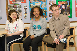 Group of Day service users with learning disabilities,
