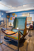 """An old car from the """"Tunnel of Laffs"""" in the Coney Island Museum."""