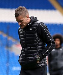Leicester City's Jamie Vardy before the match
