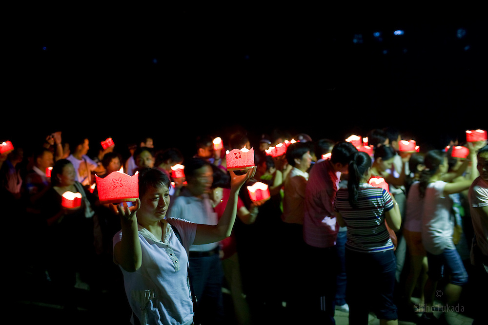 People lighten up lanterns to celebrate the Lunar New Year in Xishuangbanna, Yunnan in China. Yunnan, in China's southwest, is one of the country's most diverse provinces, with 25 official ethnic groups.