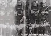 "Kilkenny (Tullaroan) All-Ireland Hurling Champions 1911/12. Back Row: Dr Pierce Grace, John T Power, Dick ""Drug"" Walsh, Jack Rochfort, Denny Brennan, Dr J J Brennan, Matt Gargan. Middle Row: Dick Grace, Dick Doherty, Jack Keoghan, Sim Walton, Paddy ""Icy"" Lanigan, Jimmy Keely, Pat Clohesey, Dan Kennedy. Front Row: Dick Doyle, Mick Doyle, Tom McCormack. Denny Brennan and Pat Clohesey did not play in the final."