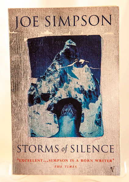 STORMS OF SILENCE - Joe Simpson, Vintage Books, UK, 1997, B&W and Colour plates, Climbing essays from Tibet, India, Alaska, Nepal - great light book to take into the hills $NZ15
