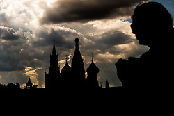 July 13, 2018 - Moscow, Russia - 180713 People walk by the Saint Basil's Cathedral during the FIFA World Cup on July 13, 2018 in Moscow..Photo: Petter Arvidson / BILDBYRN / kod PA / 92086 (Credit Image: © Petter Arvidson/Bildbyran via ZUMA Press)