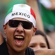 Mexican fans cheer on their team during the Mexico V Wales international football friendly match at MetLife Stadium, East Rutherford, New Jersey, 23rd May 2012. Photo Tim Clayton