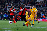 Football - 2016 / 2017 League Cup - Round 3: AFC Bournemouth vs. Preston North End<br /> <br /> Greg Cunningham of Preston clears the ball from Bournemouth's Benik Afobe at Dean Court (The Vitality Stadium) Bournemouth<br /> <br /> Colorsport/Shaun Boggust