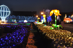 February 5, 2018 - Xi'An, Xi'an, China - Xi'an,CHINA-5th February 2018: Lighting show can be seen in Xi'an, northwest China's Shaanxi Province, marking the upcoming Spring Festival. (Credit Image: © SIPA Asia via ZUMA Wire)