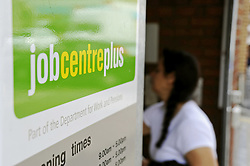 FILE PICTURE © Licensed to London News Pictures. 17/08/11. Eltham, UK. Job Centre Plus in  Eltham,South East London today (17/08/2011). The UK unemployment total rose unexpectedly in the three months to June, by 38,000 to 2.49m. The jobless rate also increased to 7.9%, the Office for National Statistics (ONS) has said. Photo credit : Grant Falvey/LNP