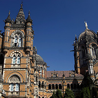 Asia, India, Mumbai. Chhatrapati Shivaji (Victoria) Terminus, a UNESCO World Heritage Site.
