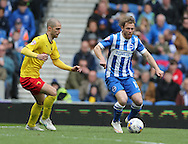 Craig Mackail-Smith during the Sky Bet Championship match between Brighton and Hove Albion and Watford at the American Express Community Stadium, Brighton and Hove, England on 25 April 2015.