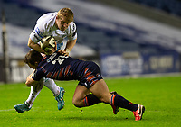 Rugby Union - 2020 / 2021 Guinness Pro-14 - Edinburgh vs Glasgow Warriors - Murrayfield<br /> <br /> Johnny Matthews of Glasgow Warriors is tackled by Nic Groom of Edinburgh Rugby<br /> <br /> COLORSPORT/BRUCE WHITE