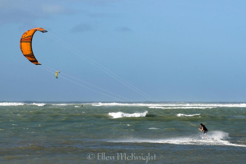 Kite Surfing in Maui, Hawaii