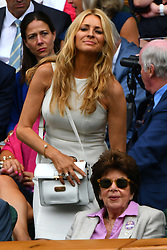 © Licensed to London News Pictures. 28/06/2016. TESS DALY  watches tennis from the Royal Box on the centre court on the second day of the WIMBLEDON Lawn Tennis Championships in London, UK. Photo credit: Ray Tang/LNP
