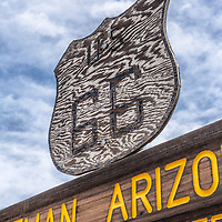 Old route 66 sign in Oatman, Arizona