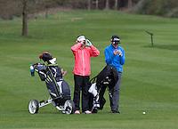 LOCHEM -  Noa van Beek en Tijn Langenberg . Jeugdgolf op de  Lochemse Golf Club De Graafschap. COPYRIGHT KOEN SUYK