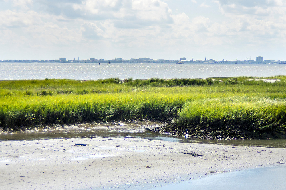 View from Pitt Street Bridge, a local park on a former highway bridge, in Mount Pleasant, South Carolina on Wednesday, June 24, 2020. Copyright 2020 Jason Barnette