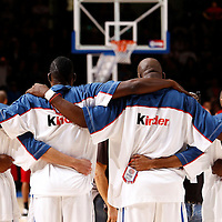 27 August 2011: Team France is seen during the friendly game won 74-44 by France over Belgium, in Lievin, France.