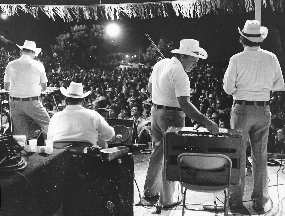 Bob Wills Original Texas Playboys in concert at Armadillo World Headquarters in Austin.