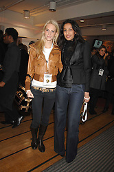 Left to right, POPPY DELEVINGNE and SALONI LODHA at a party to celebrate the launch of the new Fiat 500 car held at the London Eye, Westminster Bridge Road, London on 21st January 2008.<br /> <br /> NON EXCLUSIVE - WORLD RIGHTS (EMBARGOED FOR PUBLICATION IN UK MAGAZINES UNTIL 1 MONTH AFTER CREATE DATE AND TIME) www.donfeatures.com  +44 (0) 7092 235465