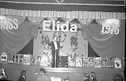 """""""Miss Elida"""" Final At Mosney, Co Meath..1976..01.09.1976..09.01.1976..1st September 1976..The final of the """"Miss Elida"""" lovely hair competition was held in The Gaiety Theatre,Butlins Holiday Centre,Mosney,Co Meath tonight. The competition is sponsored by Lever Bros,Sheriff St,Dublin. The shows compere was Mr Mike Murphy..Picture shows compere,Mike Murphy,introducing the show."""