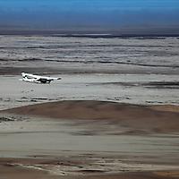 Africa, Namibia, Sossusvlei. Flying over the Namib Desert.