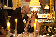 LORD POLTIMORE; WENDY GOLDSMITH, Professor Mikhail Piotrovsky Director of the State Hermitage Museum, St. Petersburg and <br /> Inna Bazhenova Founder of In Artibus and the new owner of the Art Newspaper worldwide<br /> host THE HERMITAGE FOUNDATION GALA BANQUET<br /> GALA DINNER <br /> Spencer House, St. James's Place, London<br /> 15 April 2015