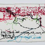 Fiber Art hand made by Diana Weymar.<br /> Copy by Roger S. Duncan