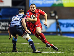 Scarlets' Ken Owens in action - Mandatory by-line: Craig Thomas/Replay images - 31/12/2017 - RUGBY - Cardiff Arms Park - Cardiff , Wales - Blues v Scarlets - Guinness Pro 14