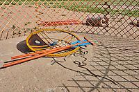 Mongolie, province de Uvs, région de l'ouest, campement près du lac Achit Nuur, yourte demontée // Mongolia, Uvs province, western Mongolia, nomad camp near the lake Achit Nuur, yurt in pieces