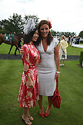 Vanessa Mae and Davina McCall, Glorious Goodwood. 2 August 2007.  -DO NOT ARCHIVE-© Copyright Photograph by Dafydd Jones. 248 Clapham Rd. London SW9 0PZ. Tel 0207 820 0771. www.dafjones.com.