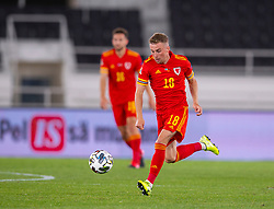 HELSINKI, FINLAND - Thursday, September 3, 2020: Wales' Joseff Morrell during the UEFA Nations League Group Stage League B Group 4 match between Finland and Wales at the Helsingin Olympiastadion. (Pic by Jussi Eskola/Propaganda)