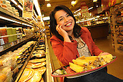 Tuesday, March 10, 2009- Mexifeast Foods Inc. Owner and Operator Nancy Andrade displays an offering of her tamale products where they are available at Whole Foods Market in Chicago