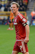 Middlesbrough midfielder Grant Leadbitter celebrates goal during the Sky Bet Championship match between Wolverhampton Wanderers and Middlesbrough at Molineux, Wolverhampton, England on 24 October 2015. Photo by Alan Franklin.