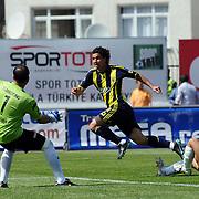 Fenerbahce's Mehmet TOPUZ (C) during their Turkish superleague soccer match Kasimpasaspor between Fenerbahce at the Recep Tayyip Erdogan stadium in Istanbul Turkey on Sunday 25 April 2010. Photo by TURKPIX
