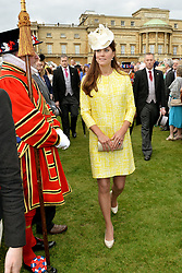 The Duchess of Cambridge attends a Garden Party in the grounds of Buckingham Palace, central London hosted by Queen Elizabeth II.