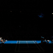 The roof is shut because of soaring temperatures  during the match between Serena Williams of the USA and Svetlana Kuznetsova of Russia in the Women's Quarter FInals at the Australian Tennis Open on January 28, 2009 in Melbourne, Australia. Photo Tim Clayton    .