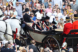 The Duke of York (left), the Duke of Cambridge (2nd left), the Earl of Wessex (2nd right) and the Countess of Wessex (right) ride in a carriage during the annual Order of the Garter Service at St George's Chapel, Windsor Castle.