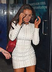 London: 'Love Island' Amber Davies leaves Opal nightclub crying - 25 Aug 2017
