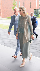 June 19, 2018 - NETHERLANDS - 19-06-2018 Groningen Queen Maxima during her visit at the UMCG Protonentherapy center in Groningen..The UMCG Protoncenter is the 1st center in the Netherlands to offer proton therapy to children and adult patients..With proton therapy, the radiation dose can be administered very accurately to a tumor, reducing radiation in the surrounding healthy tissues and reducing the risk of side effects and long-term adverse effects. (Credit Image: © face to face via ZUMA Press)