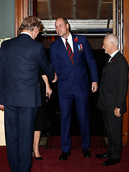 The Duke of Cambridge arrives for the annual Royal British Legion Festival of Remembrance at the Royal Albert Hall in London, which commemorates and honours all those who have lost their lives in conflicts.