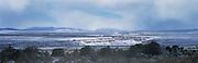 Rio Grande Gorge in snow, Taos, NM, NR