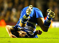 Photo: Chris Ratcliffe.<br />Arsenal v Reading. Carling Cup. 29/11/2005.<br />The game is turned upside down for Reading and Stephen Hunt