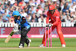 Worcestershire Rapid's Tom Fell is stumped by Lancashire Lightning's Joss Buttler during the Vitality T20 Blast Semi Final match on Finals Day at Edgbaston, Birmingham.