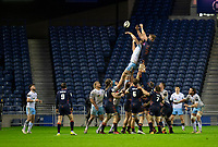 Rugby Union - 2020 / 2021 Guinness Pro-14 - Edinburgh vs Glasgow Warriors - Murrayfield<br /> <br /> Edinburgh Rugby and Glasgow Warriors players contest a lineout<br /> <br /> COLORSPORT/BRUCE WHITE