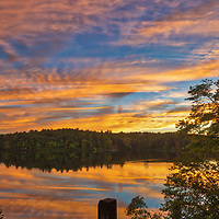 Massachusetts sunset photography from Wellesley College at Lake Waban in Wellesley Massachusetts. This Massachusetts lake with Wellesley College nearby are inspiring and make for a beautiful New England nature photography location to visit and to get lost with a camera.<br />