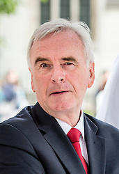 © Licensed to London News Pictures. 05/07/2016. London, UK. Shadow Chancellor JOHN MCDONNELL MP arrives at the The National Union of Teachers strike and demonstration Central London. Photo credit : Tom Nicholson/LNP