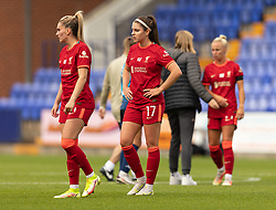 BIRKENHEAD, ENGLAND - Sunday, August 29, 2021: Liverpool's Carla Humphrey looks dejected at full time after the FA Women's Championship game between Liverpool FC Women and London City Lionesses FC at Prenton Park. London City won 1-0. (Pic by Paul Currie/Propaganda)