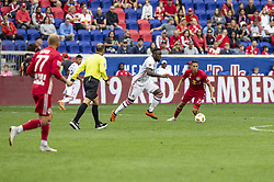 September 22, 2018 - Harrison, New Jersey, United States - Jozy Altidore (17) of Toronto FC controls ball during regular MLS game against New York Red Bulls at Red Bull Arena Red Bulls won 2 - 0 (Credit Image: © Lev Radin/Pacific Press via ZUMA Wire)