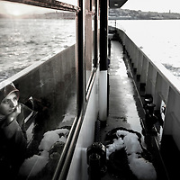 USE ARROWS ← → on your keyboard to navigate this slide-show<br /> <br /> Istanbul, Turkey 18 February 2008<br /> View of a Turkish woman inside a ferry crossing the Bosphorus strait.<br /> Photo: Ezequiel Scagnetti